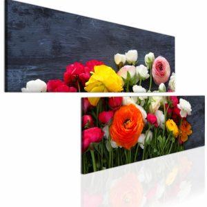 Atypický obraz kytice květin