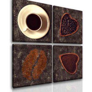 Čtyřdílný obraz miluji kávu