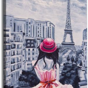 Obraz dívka v Paříži 90x120 cm