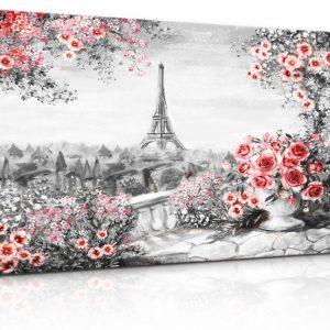 Obraz malebná Paříž s květinami II