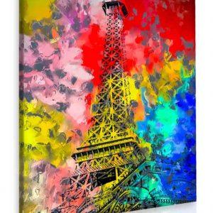 Obraz malovaná Eiffelova věž 80x120 cm