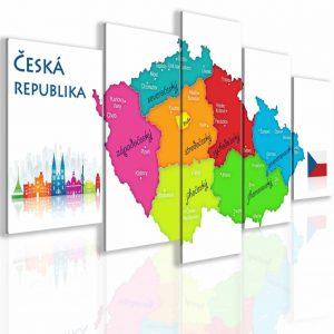 Obraz mapa České republiky
