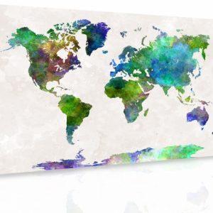 Obraz - Mapa na akvarelu II.