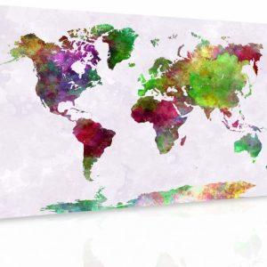 Obraz - Mapa na akvarelu III.