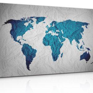Obraz - pokrčená mapa