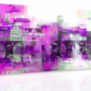Obraz - Předměstí III. 140x70 cm