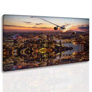 Obraz přistání nad Londýnem