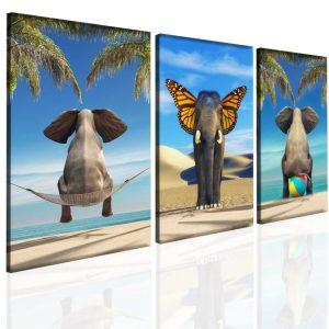 Obraz vtipný slon 90x40 cm