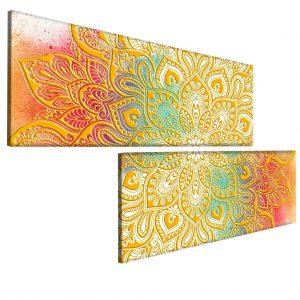 Obraz zlatá mandala 200x120 cm