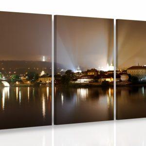 Vícedílný obraz - Noční Praha