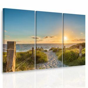 Vícedílný obraz - Pěšinka na pláži
