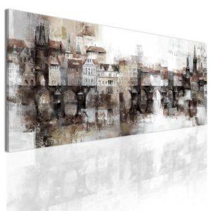 Obraz snové pražské panoráma - hnědé