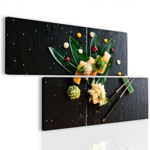 Dvoudílný obraz sushi 174x100 cm