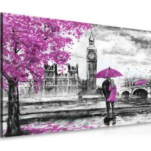 Obraz londýnská procházka fialová