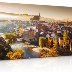 Obraz zámek a kostel Český Krumlov