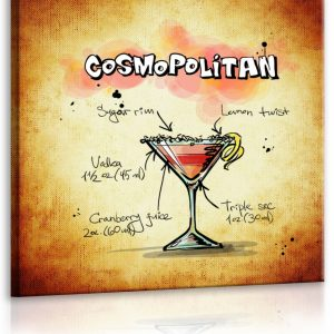 Obraz cedule Cosmopolitan 40x40 cm