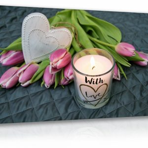 Obraz relax - květina se svíčkou