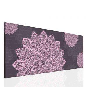 Mandala fialový obraz