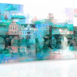 Obraz - Předměstí IV. 140x70 cm