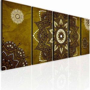 Obraz kouzelná mandala zlato hnědá 175x70 cm