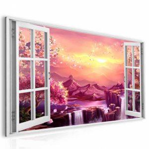 Obraz okno sakury