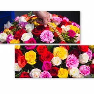 Atypický obraz koš růží