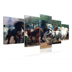 Obraz - stádo koní 200x150 cm