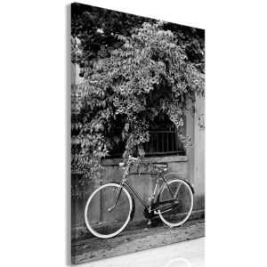 Obraz - Bicycle and Flowers (1 Part) Vertical