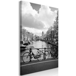 Obraz - Bikes On Bridge (1 Part) Vertical