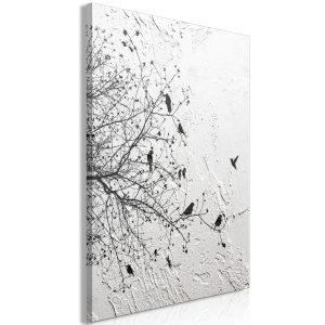 Obraz - Birds on Tree (1 Part) Vertical