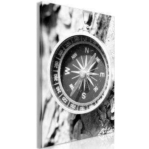 Obraz - Black and White Compass (1 Part) Vertical