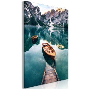 Obraz - Boats In Dolomites (1 Part) Vertical