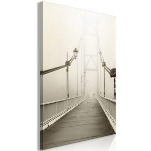 Obraz - Bridge in the Fog (1 Part) Vertical