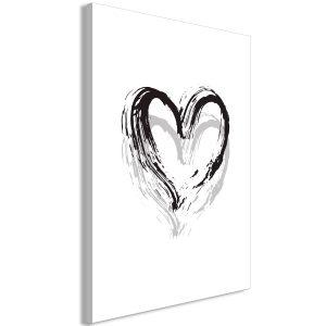Obraz - Brush Heart (1 Part) Vertical