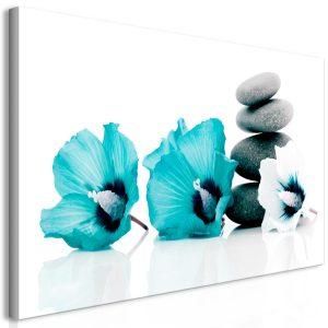 Obraz - Calm Mallow (1 Part) Turquoise