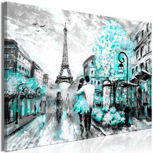 Obraz - Colourful Rendez-Vous (1 Part) Wide Turquoise