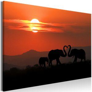 Obraz - Elephants in Love (1 Part) Wide