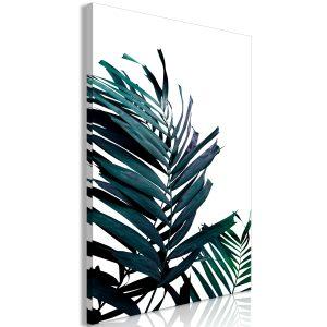 Obraz - Emerald Leaves (1 Part) Wide