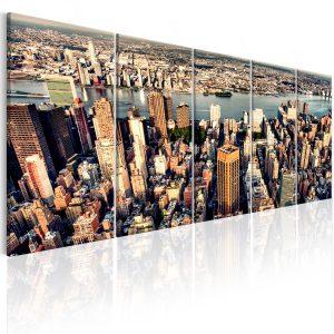 Obraz - Flight over New York