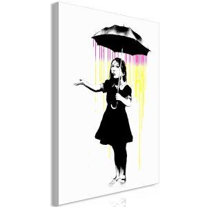 Obraz - Girl with Umbrella (1 Part) Vertical