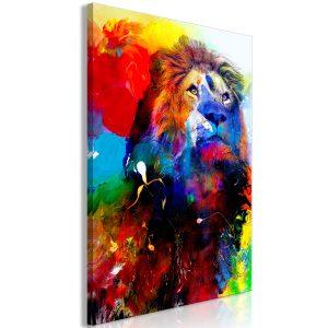 Obraz - Lion and Watercolours (1 Part) Vertical