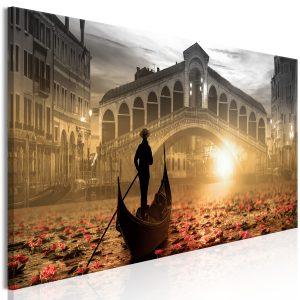 Obraz - Magic Venice (1 Part) Narrow Orange