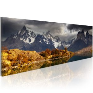 Obraz - Mountain landscape before a storm