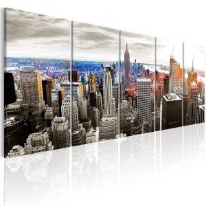 Obraz - New York: Grey Tower Blocks