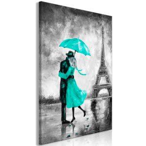 Obraz - Paris Fog (1 Part) Vertical Green