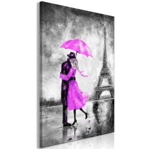 Obraz - Paris Fog (1 Part) Vertical Pink