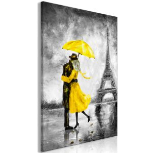 Obraz - Paris Fog (1 Part) Vertical Yellow