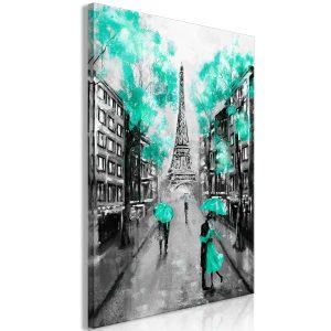 Obraz - Paris Rendez-Vous (1 Part) Vertical Green