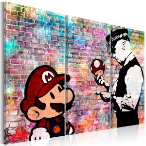 Obraz - Rainbow Brick (Banksy)