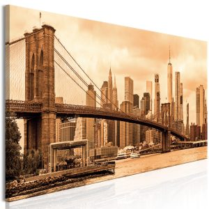 Obraz - Road to Manhattan (1 Part) Narrow Sepia